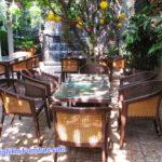Minh Thy Furniture cung cấp bàn ghế giả mây, ghế quầy bar, đèn lồng cho quán Cafe Suối Đá