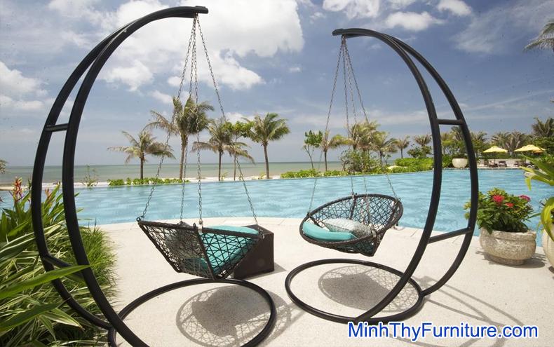 Xích đu giả mây Nội thất Minh Thy tại Carmelina Beach Resort