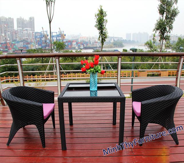 Bàn ghế nhựa giả mây MT289 - Sản phẩm nội thất giả mây Minh Thy