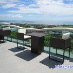 Sea Links Beach Villas – Mũi Né chọn bàn ghế cafe nhựa giả mây của Nội thất Minh Thy