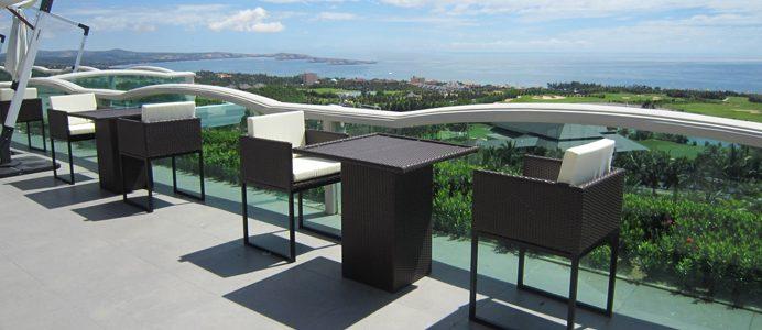 Sea Links Beach Villas chọn bàn ghế cafe nhựa giả mây Nội thất Minh Thy