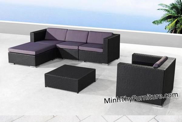 Sofa mây nhựa MT138 - Sản phẩm nội thất giả mây Minh Thy