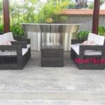 Minh Thy cung cấp bàn ghế cafe mây nhựa cho Nhà Hàng Pendula Garden