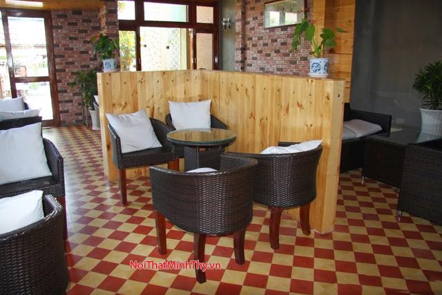 Minh Thy Furniture cung cấp bàn ghế cafe nhựa giả mây cho Mít Cafe