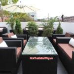 Minh Thy Furniture cung cấp bàn ghế mây nhựa ngoài trời cho nhà hàng The Blue Pumpkin ở Campuchia
