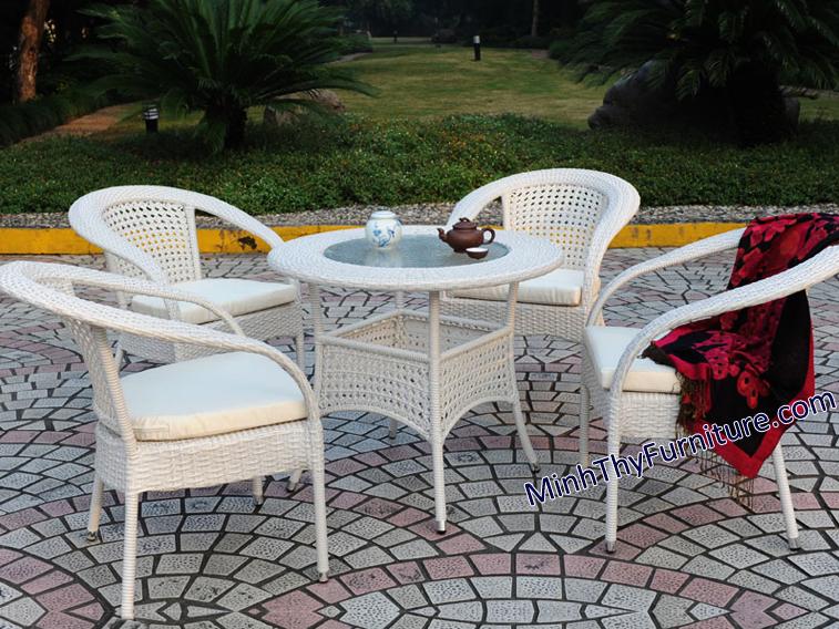 Bàn ghế mây nhựa sân vườn MT292 của Nội thất Minh Thy