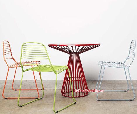 Bàn ghế sắt nghệ thuật - BGS-MT363