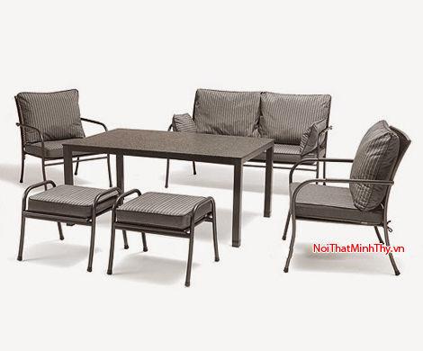 Bàn ghế sắt mỹ thuật MT345