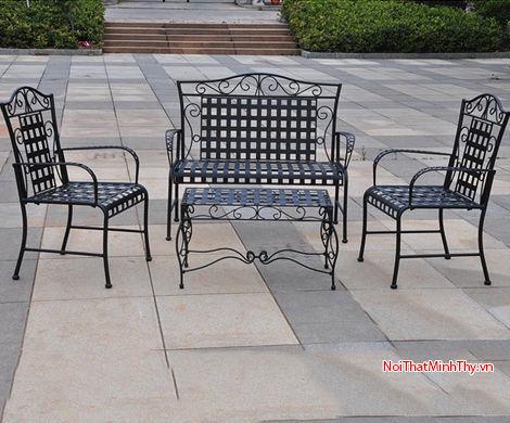 Bàn ghế sắt mỹ thuật MT353