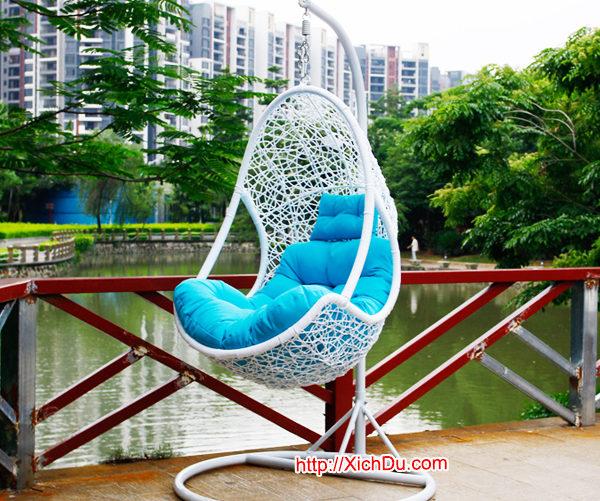 Ghế xích đu nhựa giả mây MT922