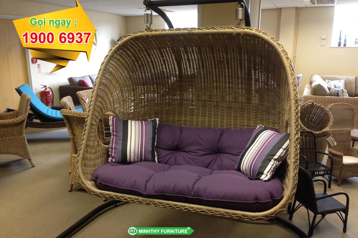 Xích đu mây nhựa MT923 - Minh Thy Furniture
