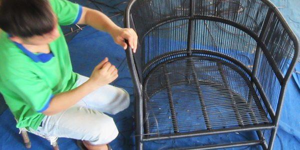 Hướng dẫn cách đan ghế giả mây sân vườn cao cấp tại xưởng đan mẫu nội thất Minh Thy