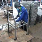 Sản xuất khung ghế nhựa giả mây MT207 tại xưởng cơ khí Minh Thy Furniture