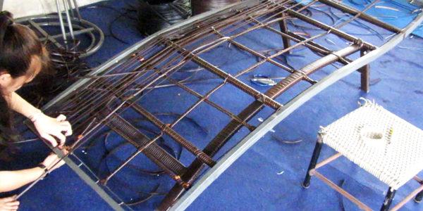 Mẫu ghế hồ bơi MT429 được tạo hình tại xưởng đan Minh Thy Furniture