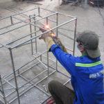 Sản xuất khung ghế sofa mây nhựa tại xưởng cơ khí Minh Thy Furniture