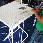 Sản xuất bàn quầy bar mây nhựa MT809 tại xưởng Minh Thy Furniture