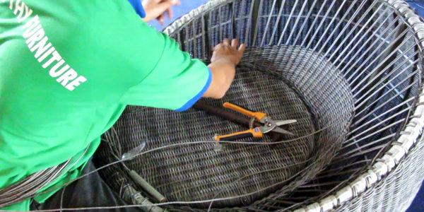 Sản xuất ghế mây nhựa cao cấp tại Xưởng sản xuất Minh Thy Furniture
