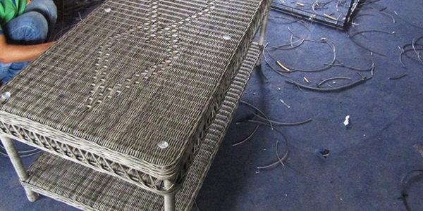 Đan bàn sofa mây nhựa MT1A9 tại Xưởng Minh Thy Furniture