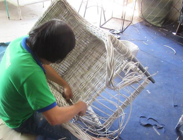 Ghế nhựa giả mây cao cấp - Nội thất giả mây sân vườn Minh Thy Furniture
