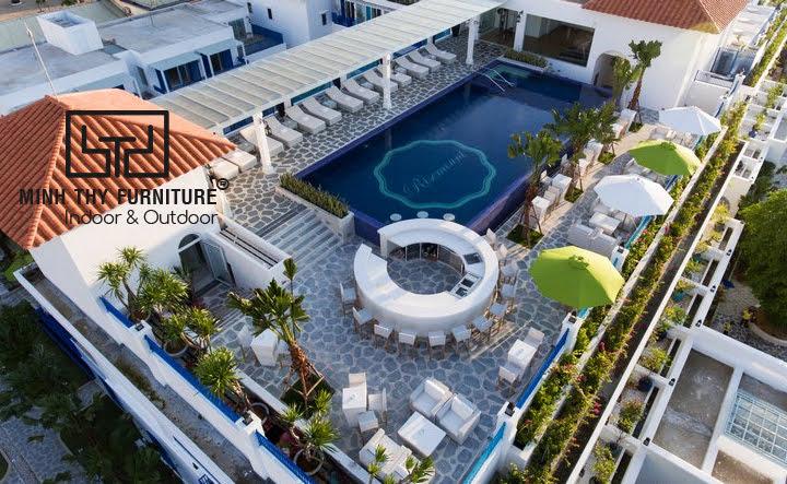 Ngoại thất giả mây Minh Thy Furniture cung cấp cho Risemount Resort