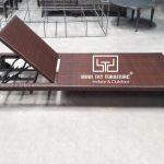 Quá trình đan giường nằm hồ bơi mây nhựa tại xưởng Nội thất Minh Thy