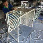 Sofa mây nhựa MT1A73 được đan tạo hình như thế nào?