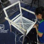 Kiểu đan sáng tạo dành cho ghế cafe giả mây tại Minh Thy Furniture