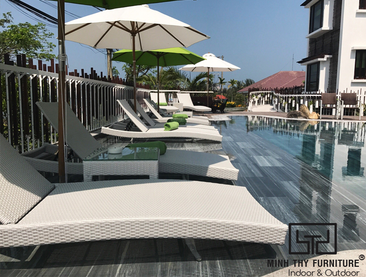 Dự án cung cấp ghế hồ bơi ngoài trời cho The Villa Hoi An Boutique Hotel 1