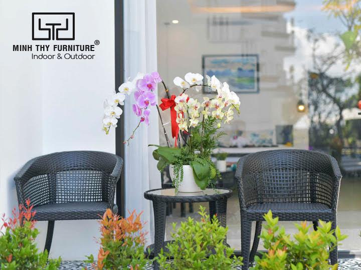 Bàn ghế cafe - Sản phẩm bàn ghế mây nhựa ngoài trời Minh Thy Furniture