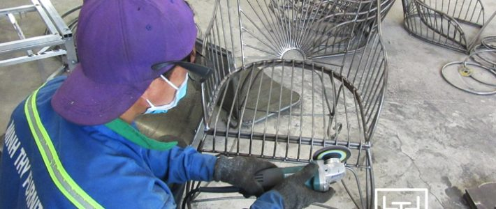 Mẫu ghế sắt cafe MT419 được sản xuất như thế nào