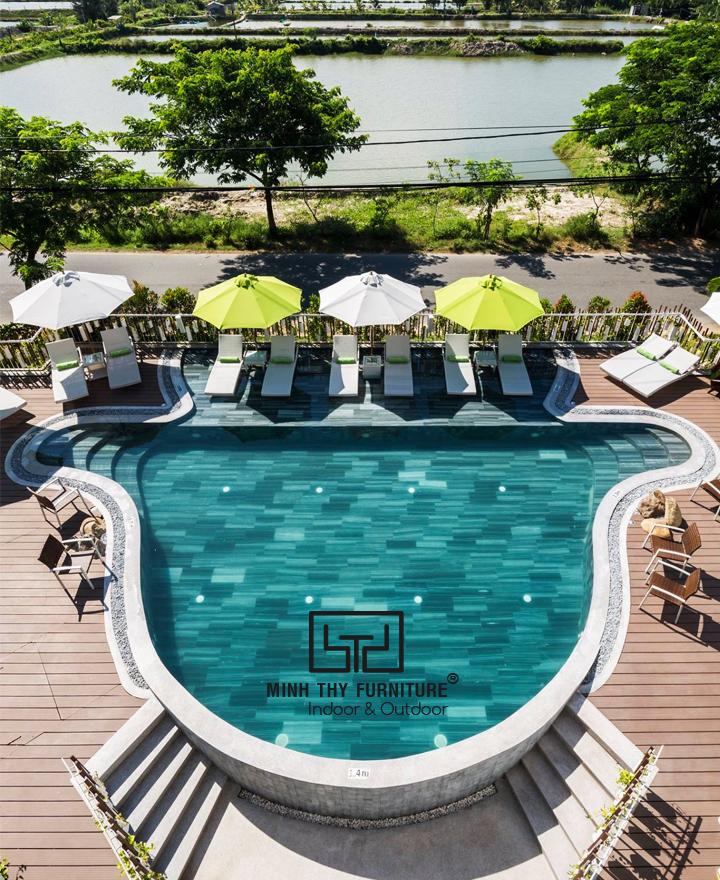 Dự án cung cấp ghế hồ bơi ngoài trời cho The Villa Hoi An Boutique Hotel