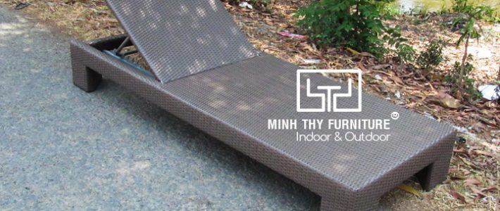 Sản xuất ghế hồ bơi khung nhôm cho resort ven biển