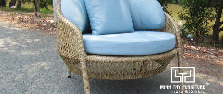 Sản xuất ghế nhựa giả mây sân vườn cao cấp tại Minh Thy Furniture