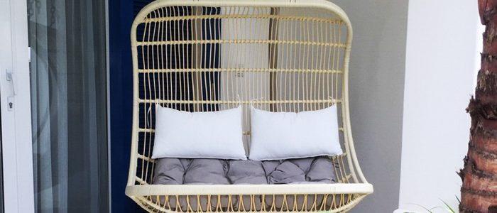 Sản xuất hàng loạt ghế xích đu cao cấp dạng đôi cho khách dự án