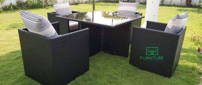 Làm mới không gian nội thất dịp Tết với sản phẩm bàn ghế ngoài trời