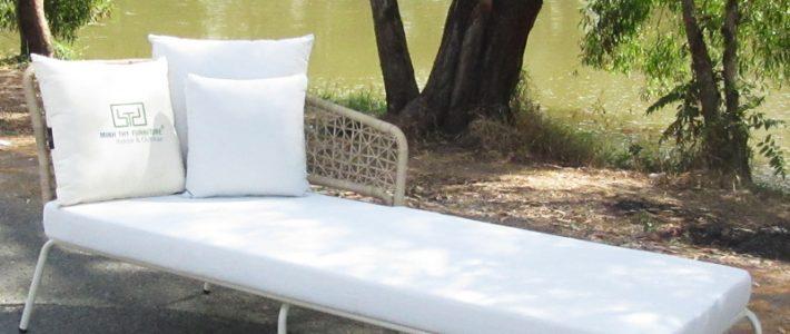 Sản xuất ghế hồ bơi mây nhựa MT4A58 khung inox 304