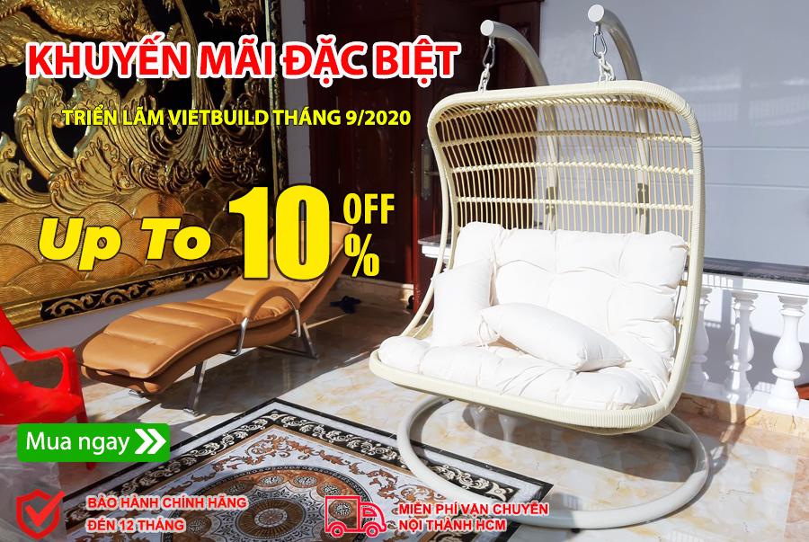 Các mẫu xích đu Minh Thy Furniture giảm giá tại Vietbuild