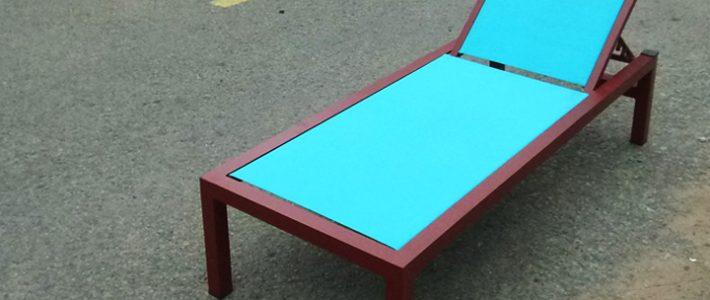 Video sản xuất giường hồ bơi vải lưới textilene tại xưởng Minh Thy Furniture