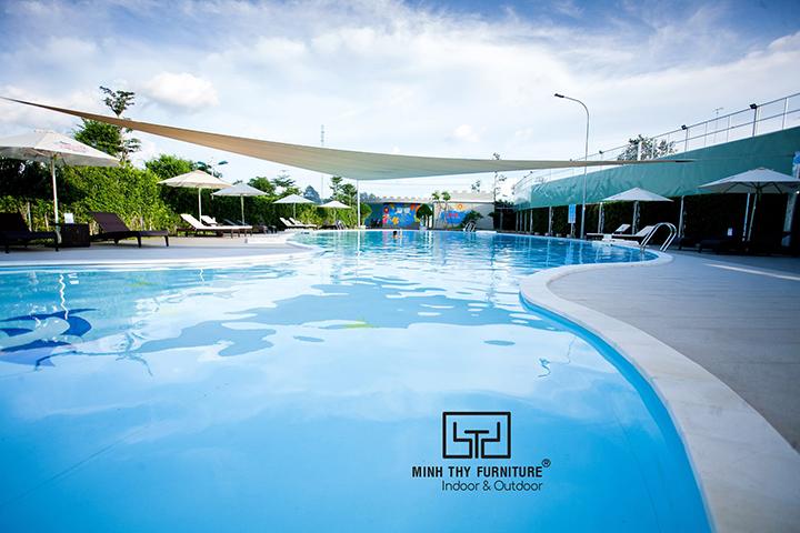 Hồ bơi Cana đặt hàng giường nằm hồ bơi của Minh Thy Furniture 2