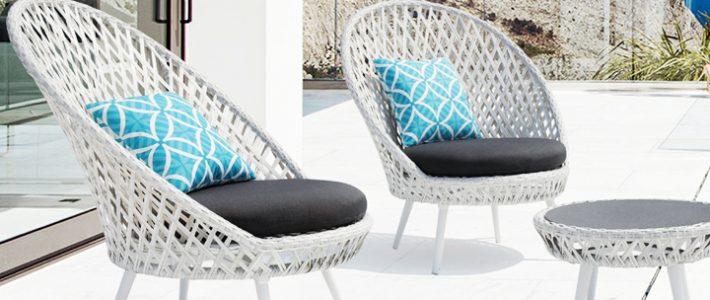 Sản xuất bàn ghế mây ban công khung nhôm cho dự án khu nghỉ dưỡng ven biển