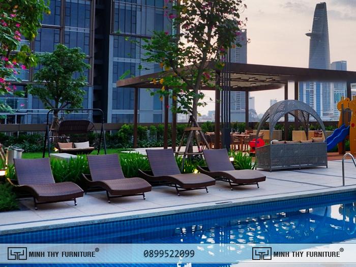 Minh Thy Furniture cung cấp bàn ghế nhựa giả mây ngoài trời cho dự án Empire City Thủ Thiêm