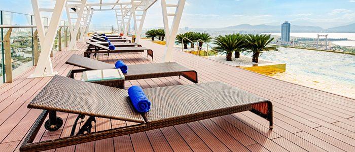 Khách Sạn Golden Bay Đà Nẵng mua ghế hồ bơi đan mây tại Minh Thy Furniture